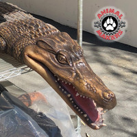 Alligator / caiman movie prop made of silicone for water filming and displays.