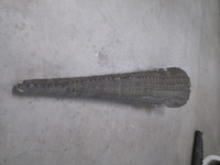 alligator crocodile tail area replica for film and tv movie prop use.  Hollow core and skin.