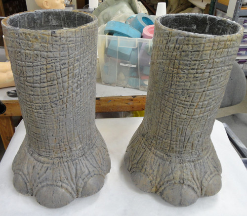 Realistic Elephant Foot and Leg Costume Pant and Shoe