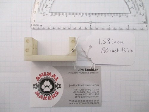 Delrin Servo Mount 1.58 inch .90 inches thick
