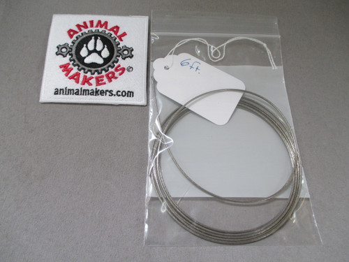 """1/16"""" Steel Cable- 6ft. Length"""