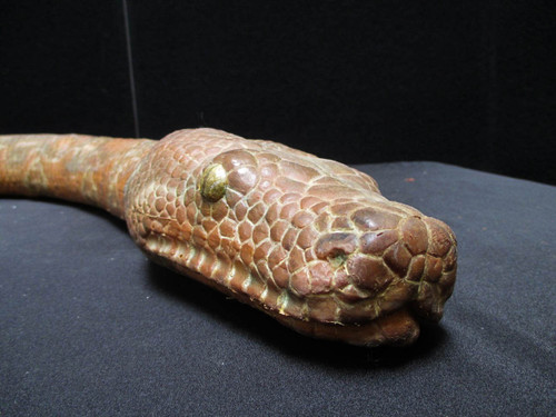 Front 10' of a 20' python or boa constrictor movie prop rental item.