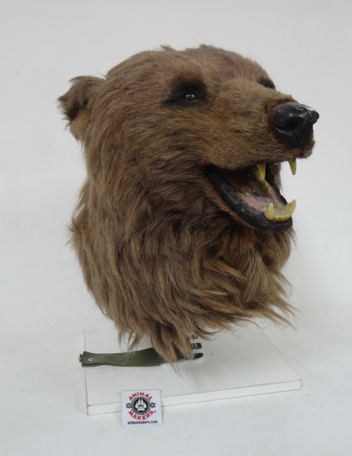 Realistic Grizzly Brown Bear Costume Head for Sale