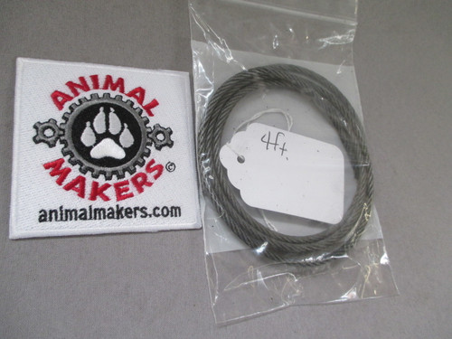"""1/8"""" steel cable- 4 ft. length"""