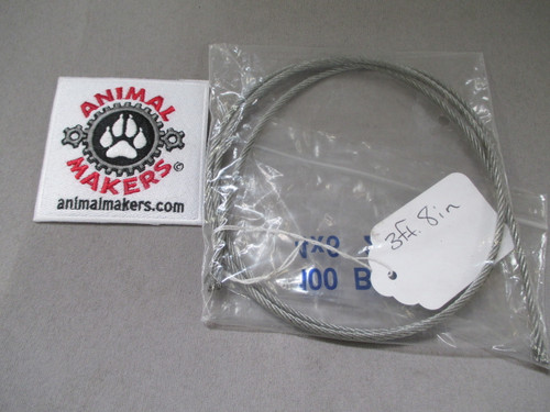 """1/8"""" steel cable- 3 ft., 8 in. length"""