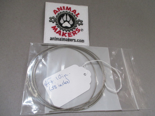 """1/16"""" Steel Cable- 4 ft., 10 in. Length"""