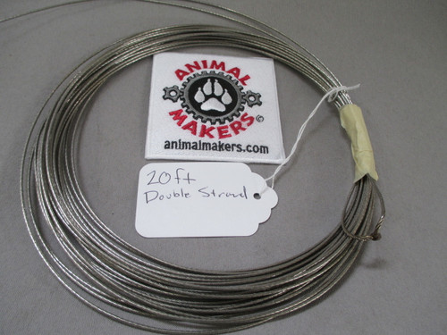 "1/16 "" Steel Cable- 20ft. (doubled)"