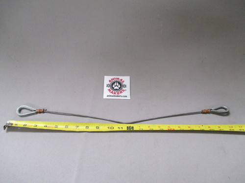 """1/8"""" steel cable- 22.5 in. Length, with looped ends"""