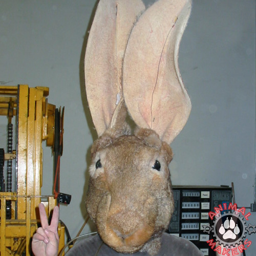 Full Head Mask that looks just like a wild rabbit!
