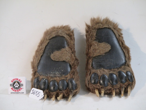 bear shoes that look like a bears foot