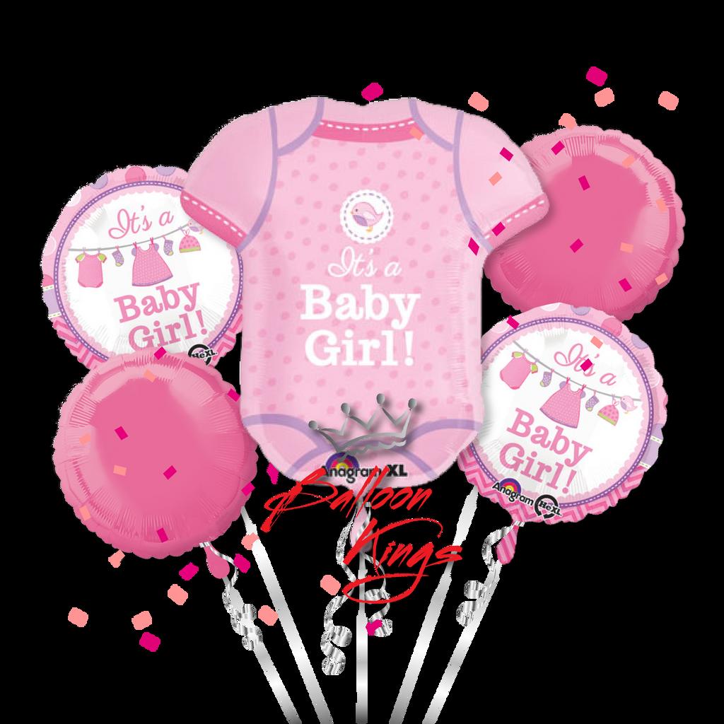 Its A Girl Onesie Bouquet Balloon Kings