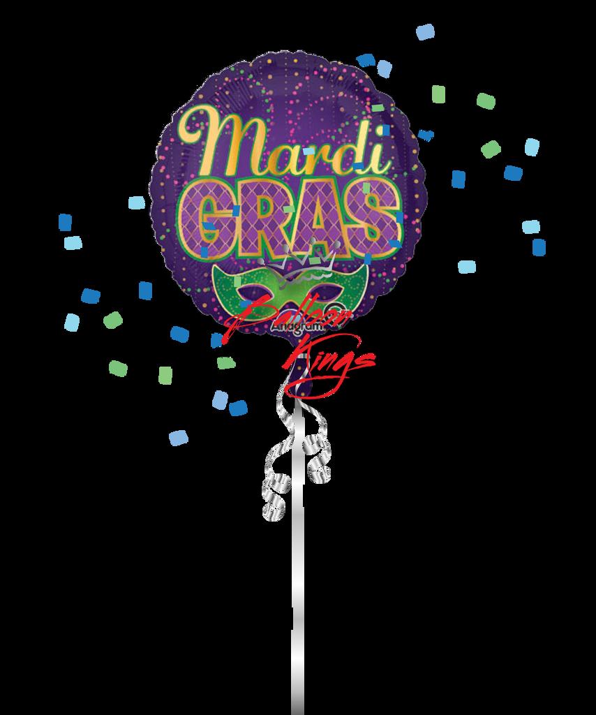 Fun Balloon Ideas For Your Wedding Day: Mardi Gras Confetti (D)
