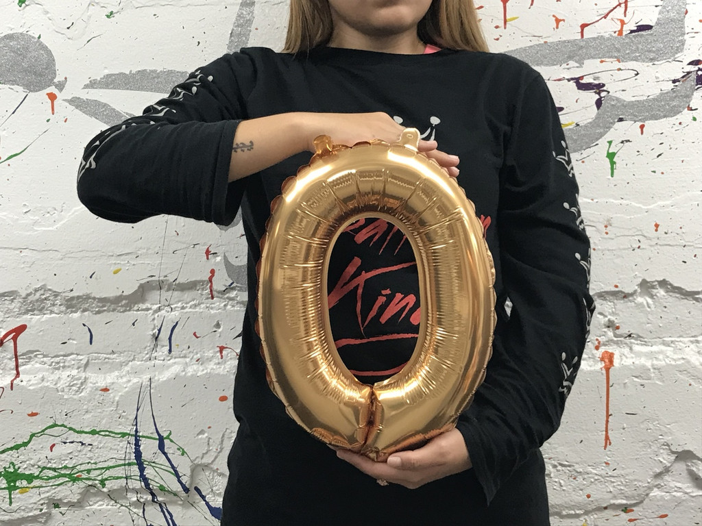 14in Gold Letter O