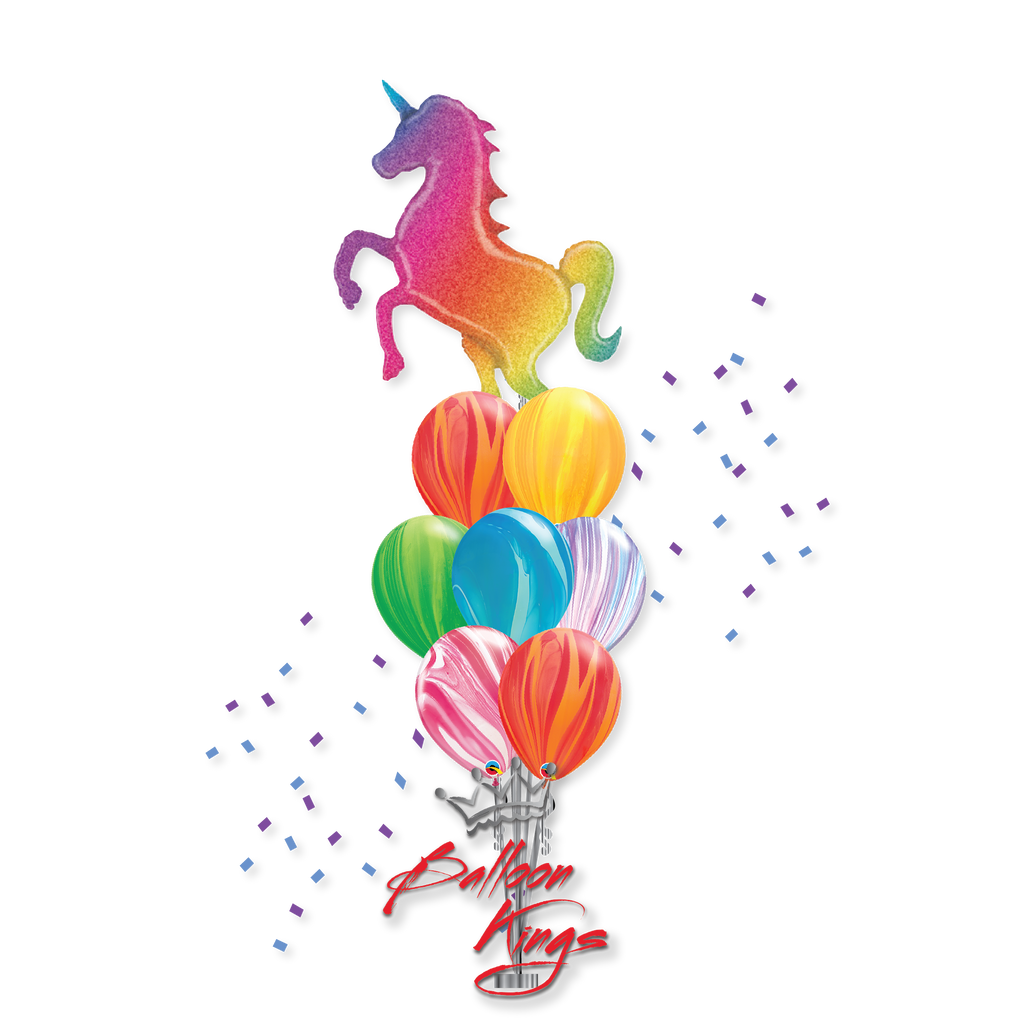 Colorful Rainbow Unicorn Large Bouquet