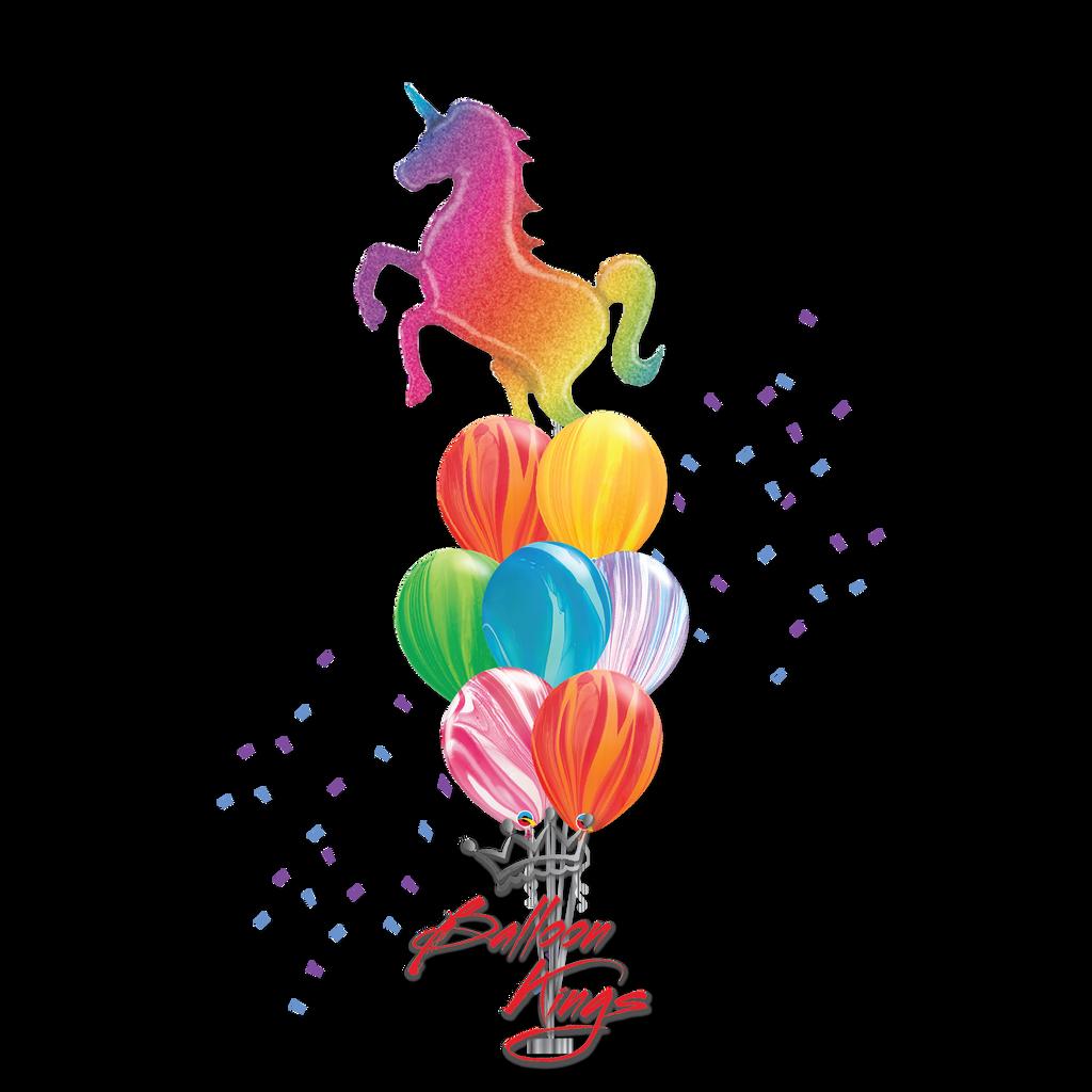 Colorful Rainbow Unicorn Large Bouquet