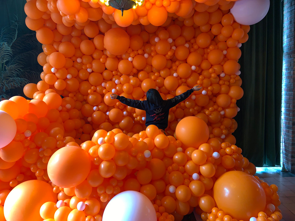 Organic Balloon Wall!!!