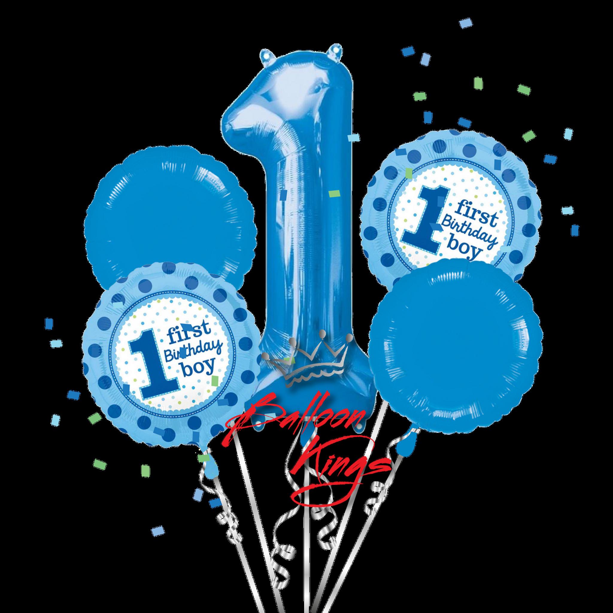 1st birthday boy bouquet balloon kings