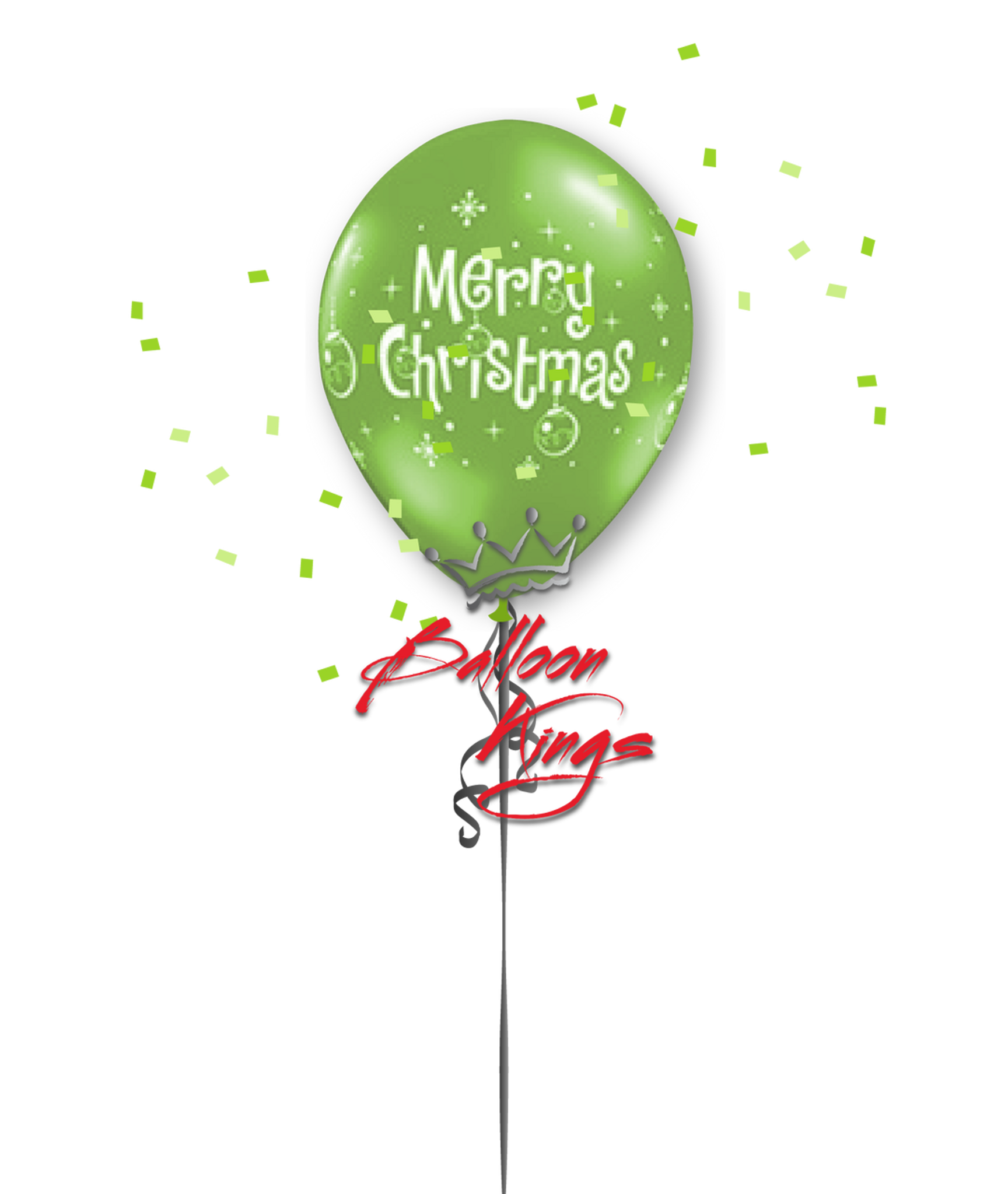 11in Latex Merry Christmas Ornaments Lime Green