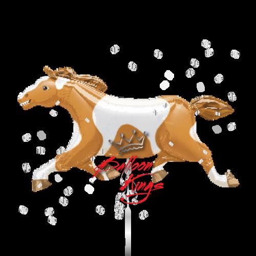 Tan White Horse