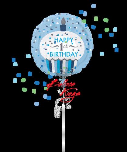 1st Birthday Little Boy Cupcake
