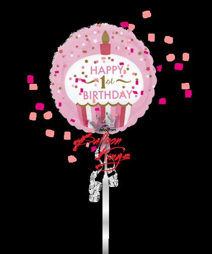 1st Birthday Little Girl Cupcake
