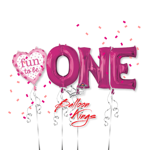 Fun To Be One Pink Letter (D)