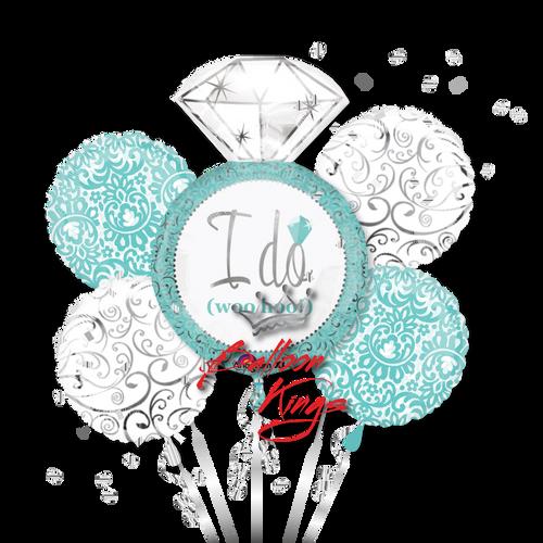 I Do Wedding Ring Bouquet