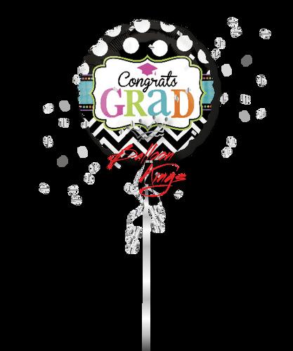 Congrats Grad Dots and Chevron