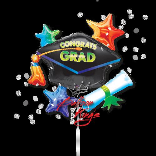 Grad Cap Cluster