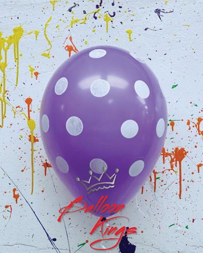 11in Lilac Polka Dots