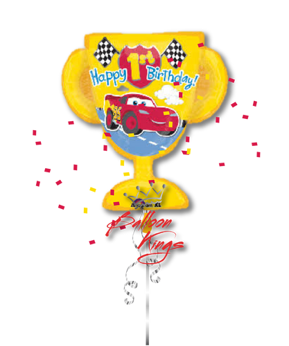 1st Birthday Cars Trophy (D)