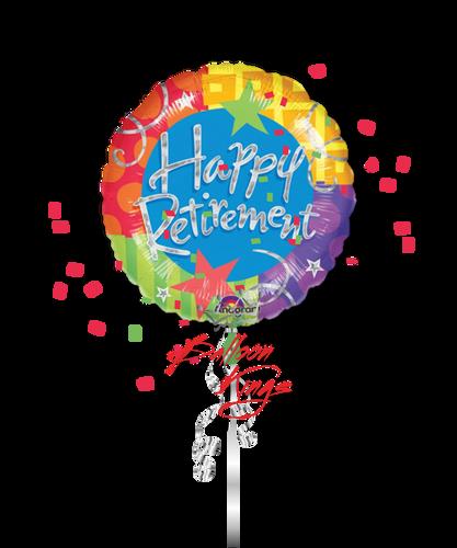 Large Happy Retirement Blitz (D)