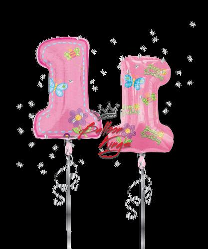 1st Birthday Girl Number (D)