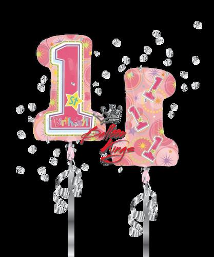 1st Birthday Number Shape (D)
