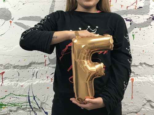 14in Gold Letter F