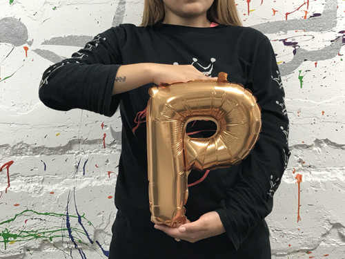 14in Gold Letter P