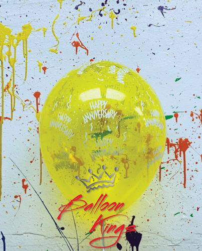 11in Latex Jewel Happy Anniversary - Yellow