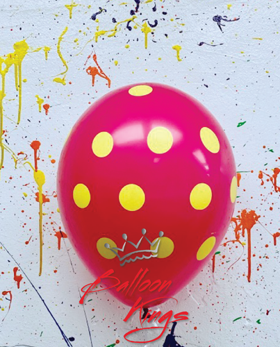 11in Colorful Polka Dots - Wild Berry