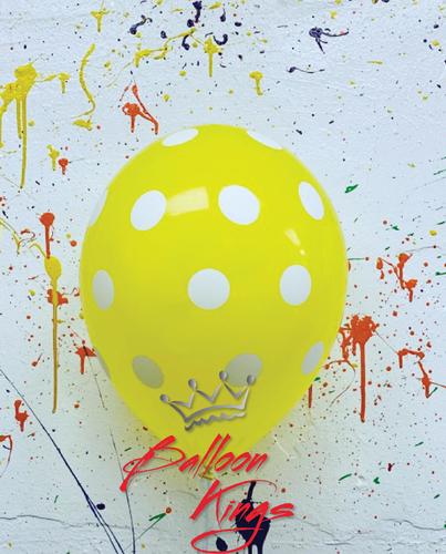 11in Yellow Polka Dots