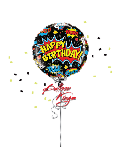 Bday Superhero Black