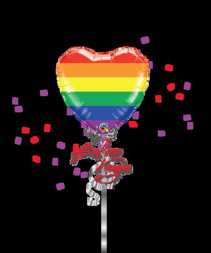 Rainbow Fun Heart