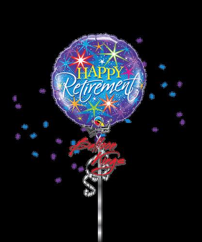 Retirement Colorful Bursts