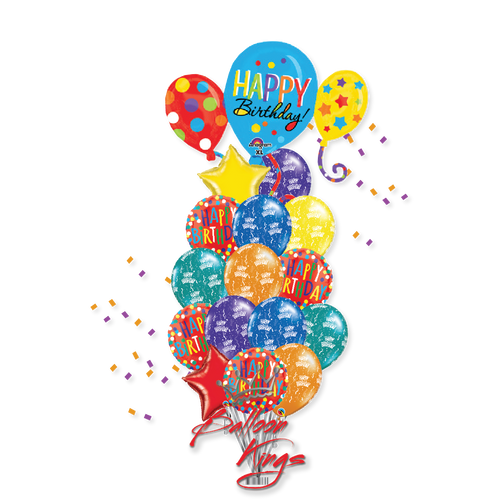 HB Balloons Cluster Bouquet