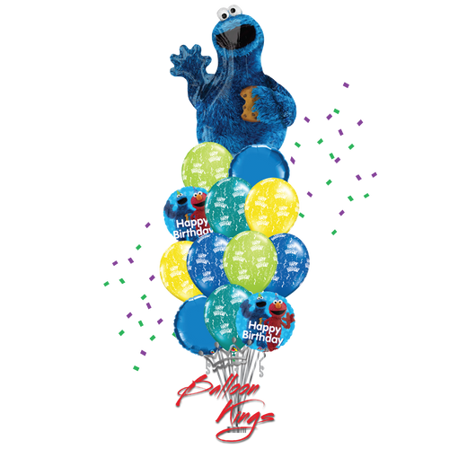 Cookie Monster Shape Bouquet