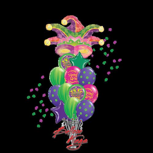 Mardi Gras Mask Large Bouquet