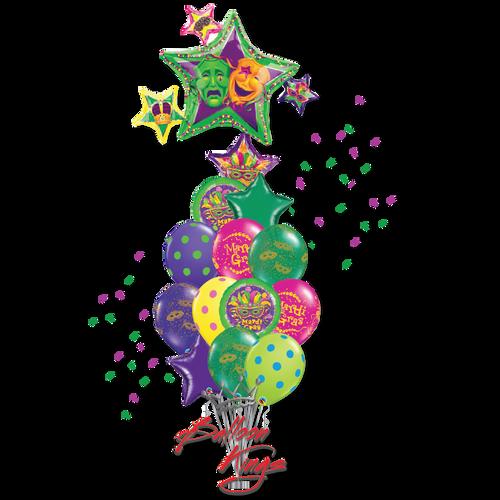 Mardi Gras Stars Cluster Large Bouquet
