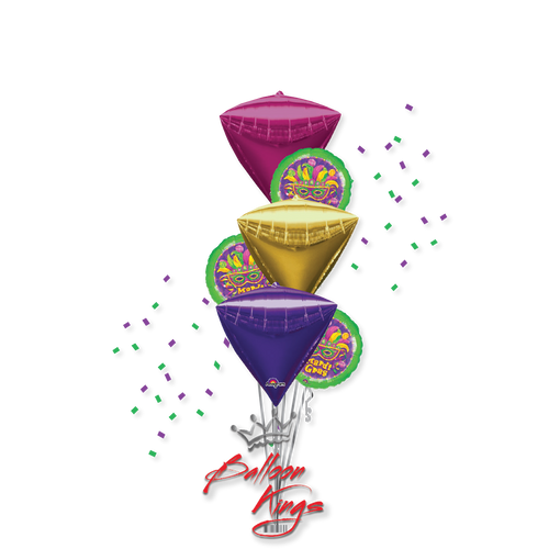 Diamondz Mardi Gras Bouquet