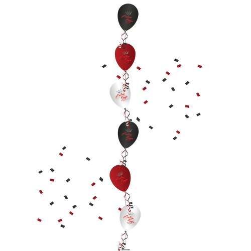 Single LineTree of 6 Balloons