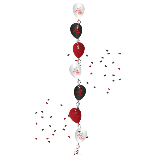 Single Line Tree of 7 Balloons