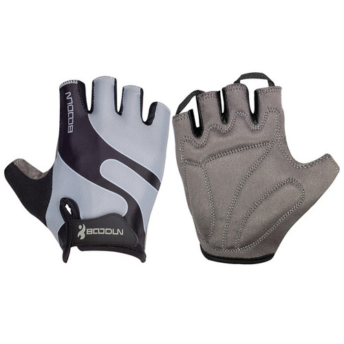 RACER'S EDGE GREY CYCLING GLOVES